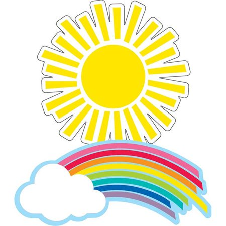 Carson Dellosa CD-120558BN Hello Sunshine Rainbows & Suns Cut-Outs - Pack of 3 - image 1 de 1