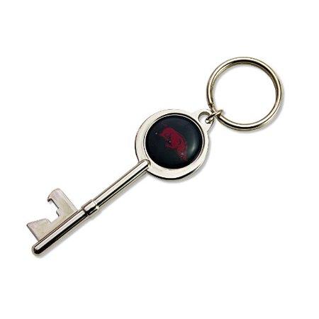 NCAA Arkansas Razorbacks Skeleton Key Bottle Opener Key Ring