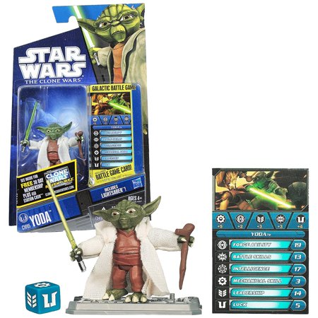 Star Wars Clone Wars Animated 2010 Figure Yoda #05, Star Wars: The Clone Wars 3 3/4 animated action figure from Hasbro By Hasbro
