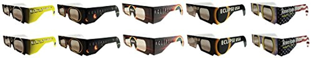 Eclipse Glasses - CE Certified Safe Solar Eclipse Glasses Assorted- Eye Protection