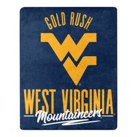 West Virginia Mountaineers The Northwest Company 55'' x 70'' Triumph Silk Touch Throw - Navy - OSFA