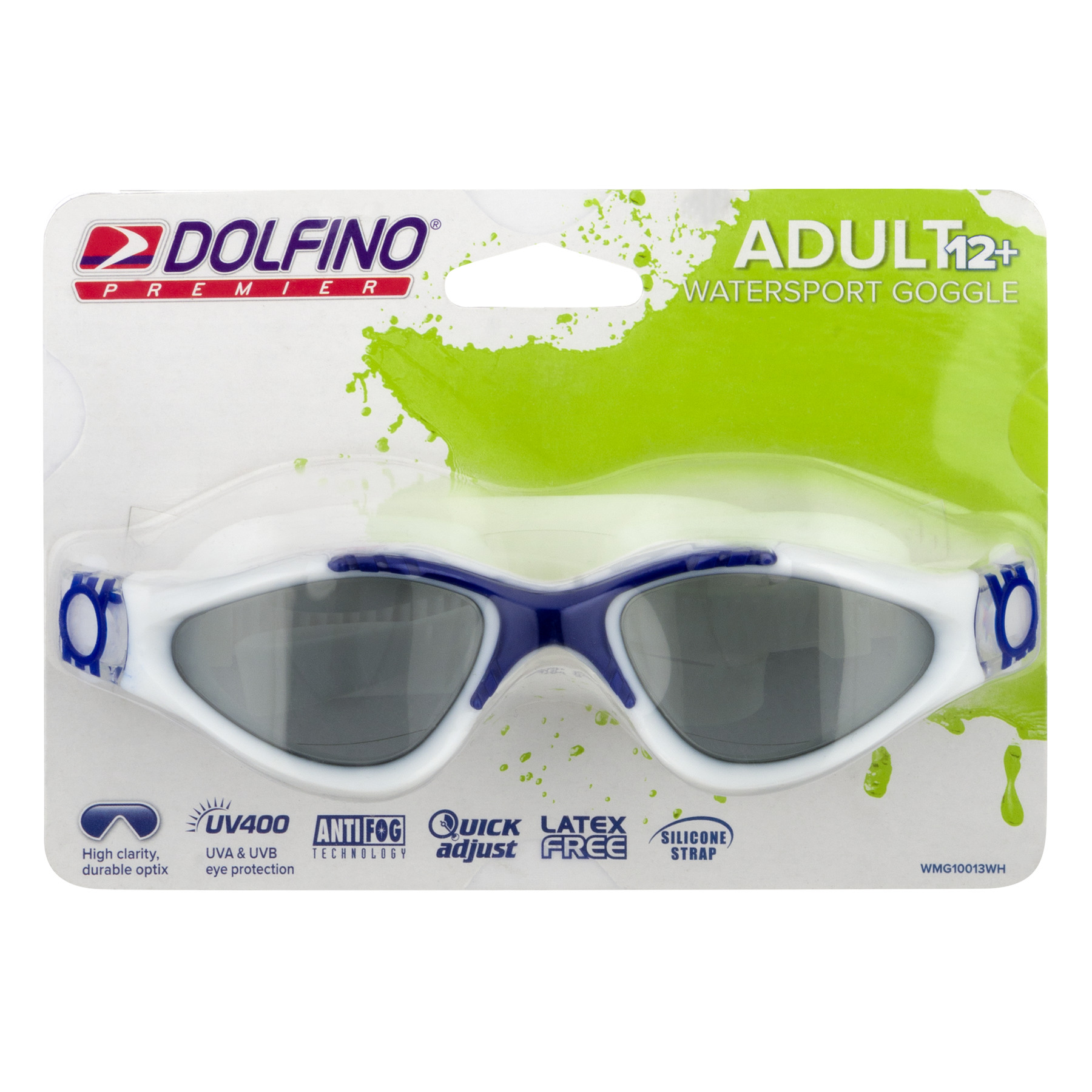 Dolfino Premier Adult Watersport Goggle, 1.0 PR