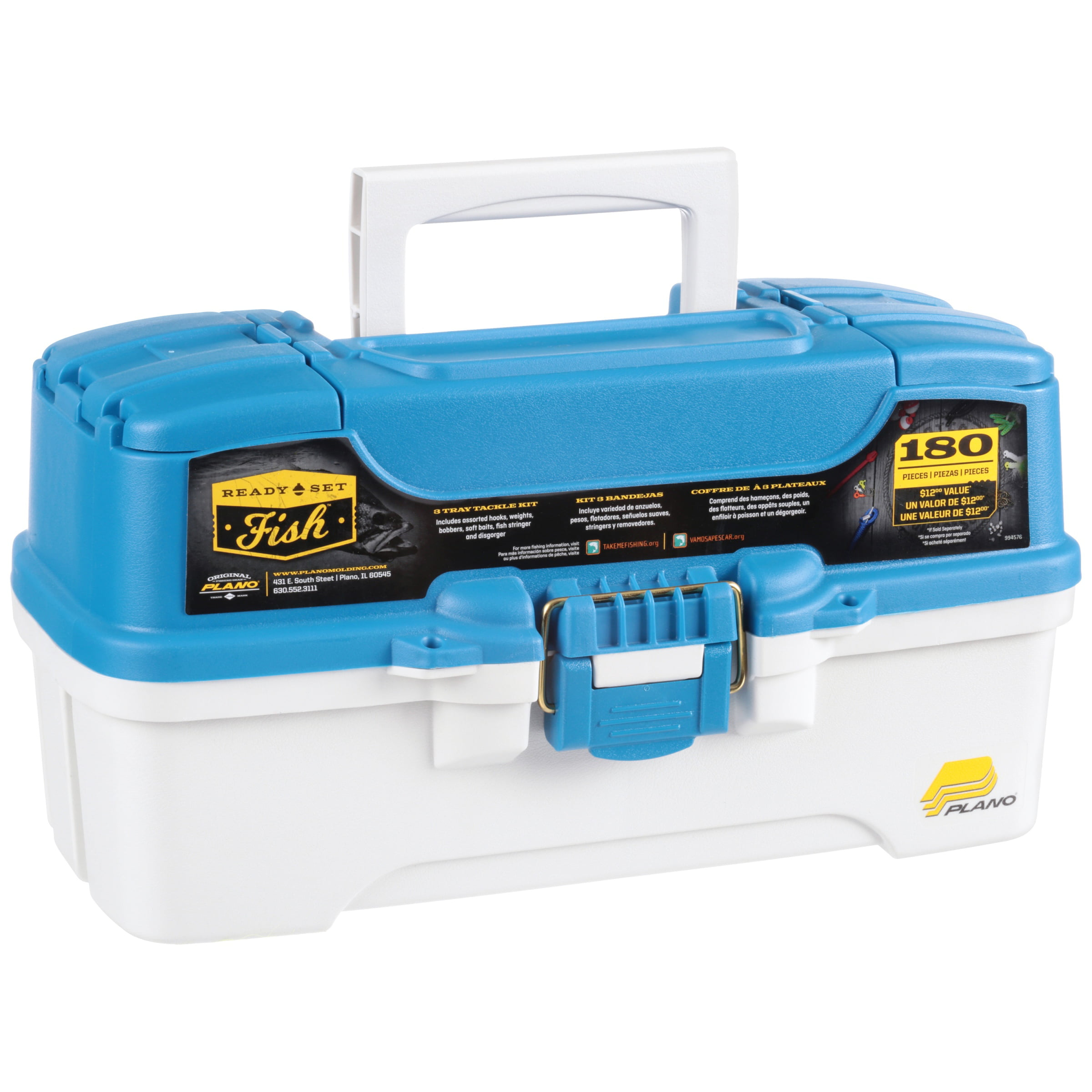 Plano Fishing Ready Set Fish, 180 pc Tackle Box by Plano Synergy Inc.
