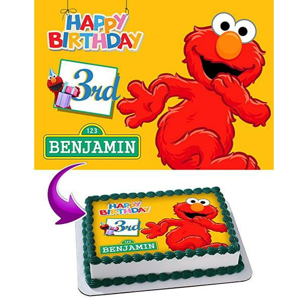 Excellent Elmo Sesame Street Birthday Cake Personalized Cake Toppers Edible Personalised Birthday Cards Veneteletsinfo