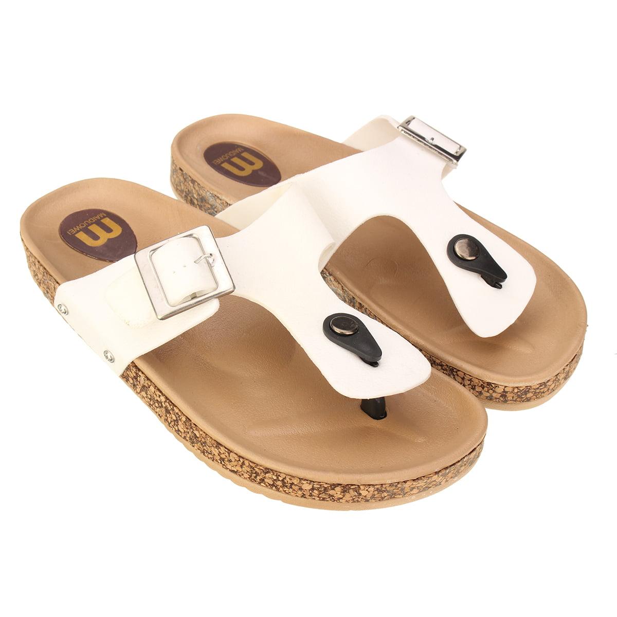 Unisex Summer Beach Slippers Dance Flip-Flop Flat Home Thong Sandal Shoes