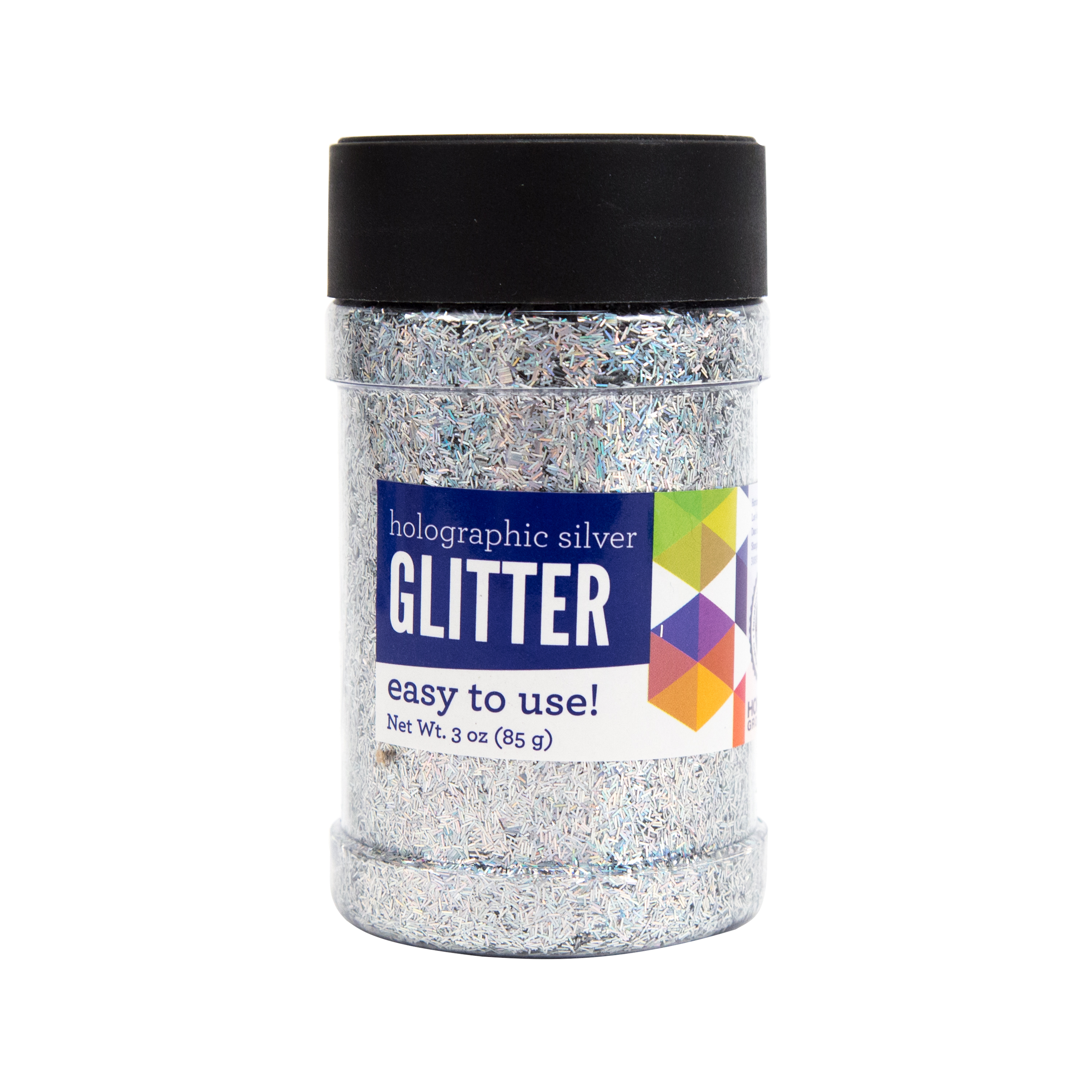 Silver Holographic Glitter, 3 OZ by Horizon Group USA