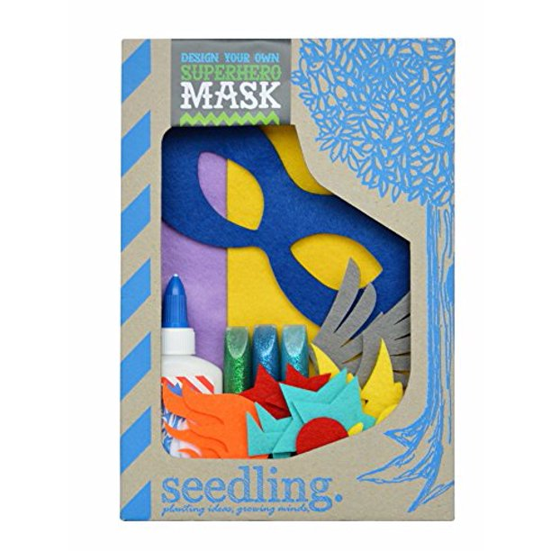 Seedling Design Your Own Superhero Mask Dress Up Activity Kit Walmart Com Walmart Com