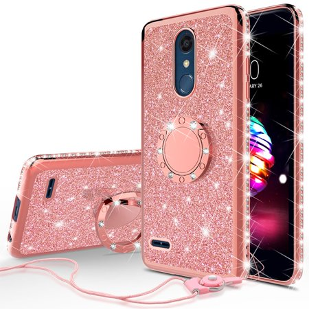 reputable site 45ccc ff00b Cute Glitter Phone Case Kickstand for LG Rebel 4 LTE,Aristo 2 Plus,Rebel 3  LTE,Risio 3,Aristo 2,Zone 4,Fortune 2,Risio 4 Bling Diamond Bumper Ring ...