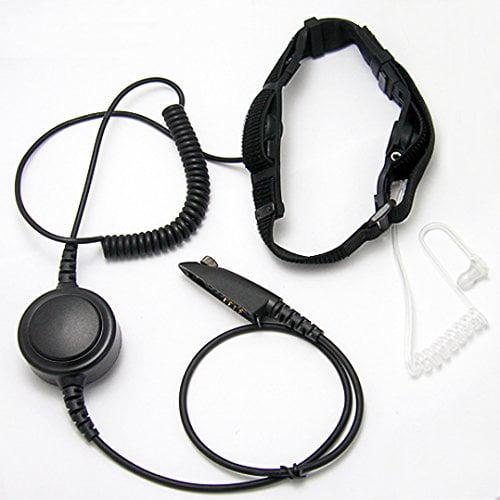 CQtransceiver Noise Cancel Throat Mic Earpiece Large PTT ...