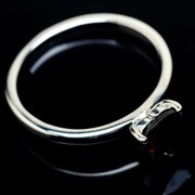 Garnet Ring Size 8 (925 Sterling Silver)  - Handmade Boho Vintage Jewelry RING23551