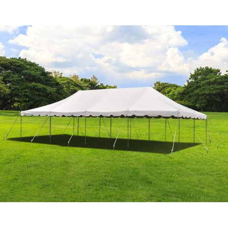 Party Tents Direct 20x40 White Outdoor Wedding Canopy Pole Tent