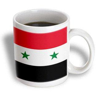 3drose Flag Of Syria Syrian Red White Black With Two Green Stars Middle East Arab Country Arabic World Ceramic Mug 11 Ounce
