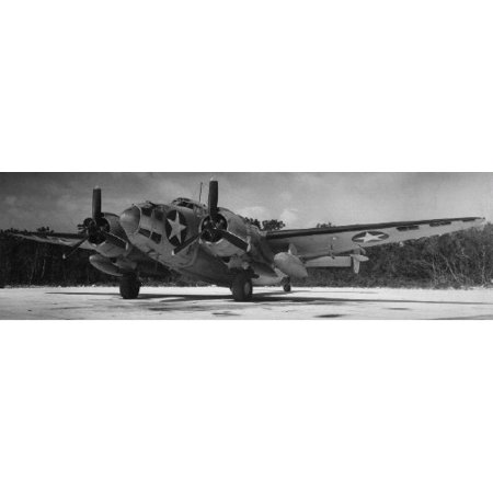 Canvas Print The Lockheed PV-1 Ventura 125-B-6 of patrol bomber squadron VPB-125. On 27 April 1943 this aircraf Stretched Canvas 10 x 14