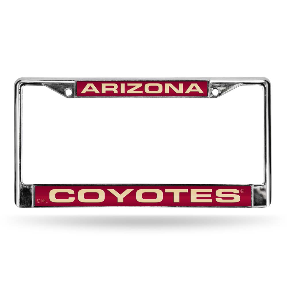 Arizona Coyotes Laser Etched Chrome License Plate Frame