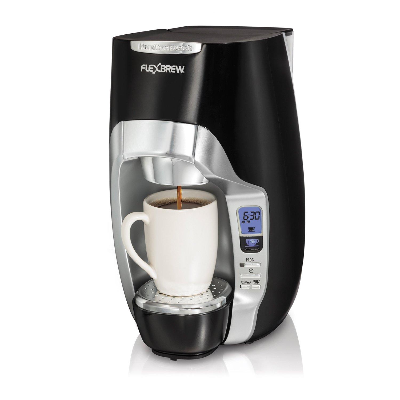 Hamilton Beach FlexBrew Single-Serve Programmable Coffeemaker, Black | 49996