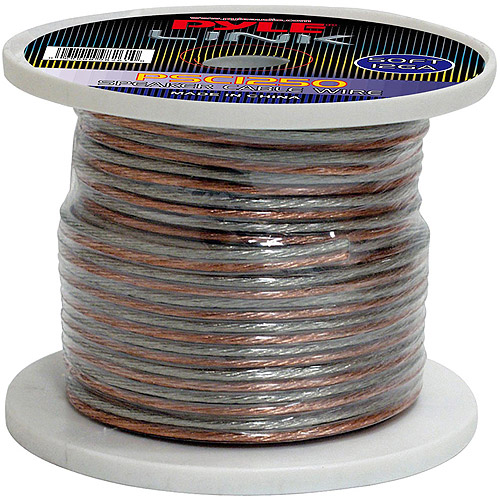 Pyle 12 Gauge High Quality Speaker Zip Wire, 50'