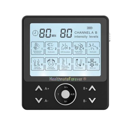 HealthmateForever PRO10AB2C Touch Screen TENS Muscle Recovery & Pain Relief System (Black)