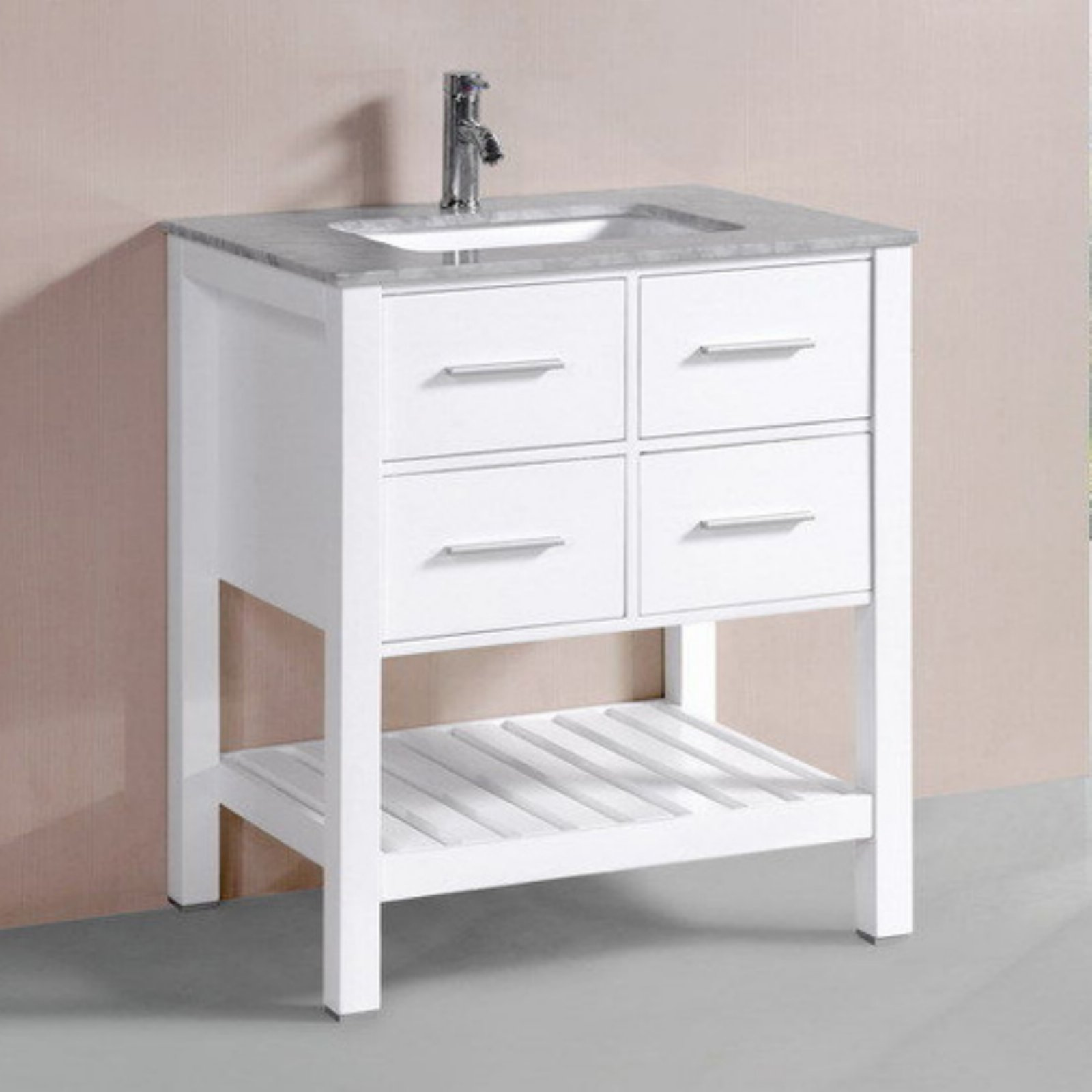 Belvedere 30 in. Single Bathroom Vanity with Marble Top by Belvedere Bath LLC