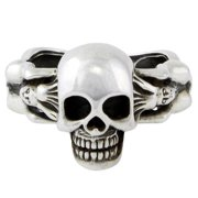 Hellfire Jewelry Sterling Silver Succubus Death Skull Ring