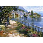 Printfinders Sunlit Stroll by Howard Behrens Painting Print on Canvas