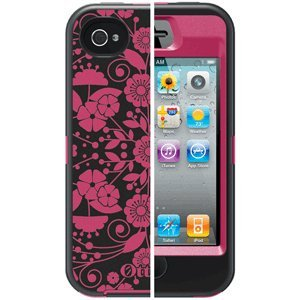 OtterBox Defender Series Case & Holster for iPhone 4 / 4S - Studio Collection - Perennial ()