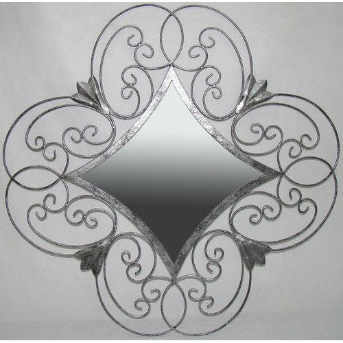 Ashton Sutton Wall Mirror in Silver