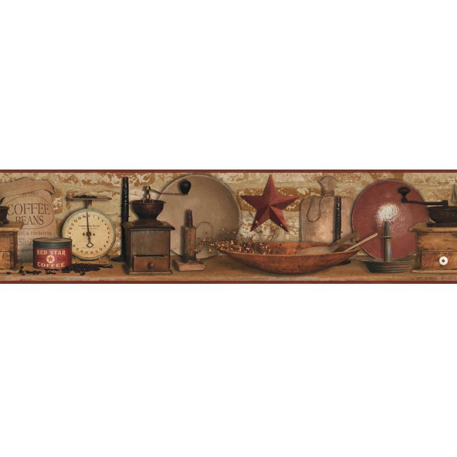Country Keepsakes Country Coffee Border Wallpaper