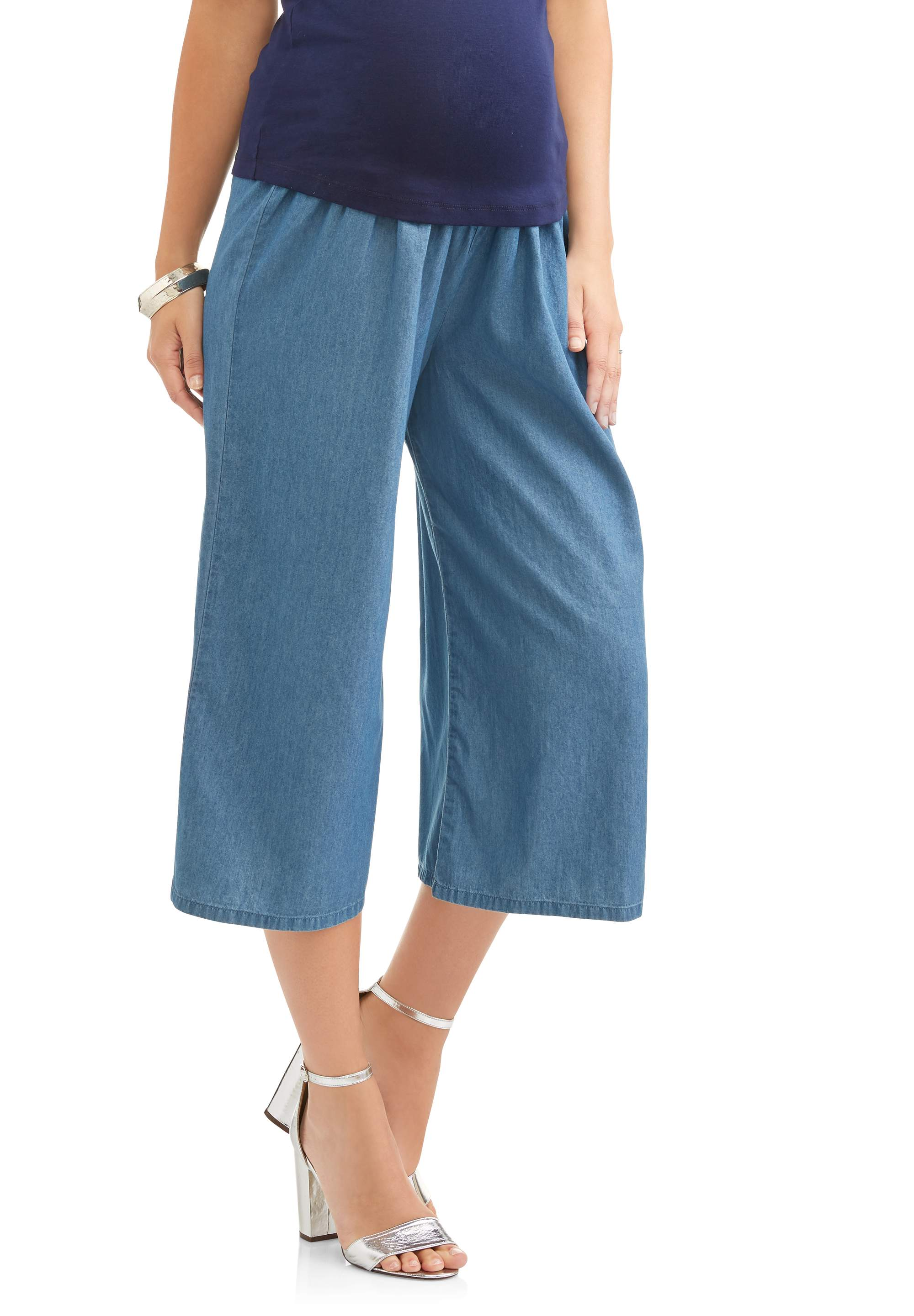 Maternity Cropped Wide Leg Pant by