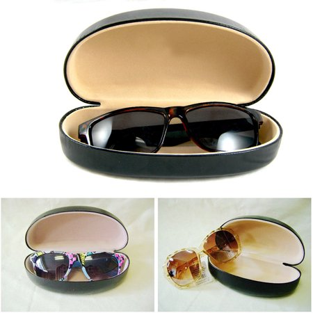 New Black Durable Hard Clam Shell Glasses Case Portable Box Sunglasses (Sun Glasses Case)