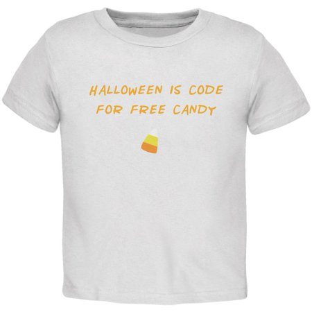Halloween is Code For Free Candy White Toddler - Promo Code For Spirit Halloween