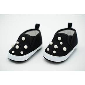Abg Black Baby Shoes Twin Gore
