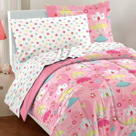 Dream Factory Pretty Princess Ultra Soft Microfiber Girls Comforter Set, Pink, Twin](Pretty Tween Girl)