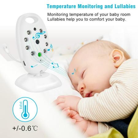 Barbala Baby Monitor Camera, 2 Way Realtime Audio Talkback LCD Screen Digital Video Night Vision Temp Sensor Nanny Security Camera Home Security System - image 7 of 9
