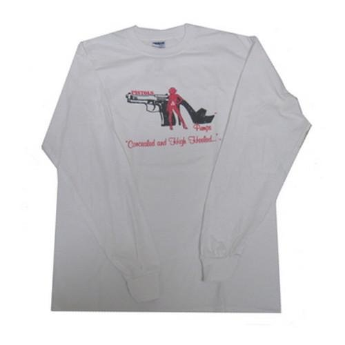 79300 Pistols and Pumps Long Sleeve 50/50 T-Shirt