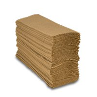 """St197 Soft Touch Brown Multi-Fold Towel   Width: 9 1/8"""" by Paper Mart"""