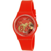 Swatch Men's Gent GR166 Red Silicone Swiss Quartz Watch