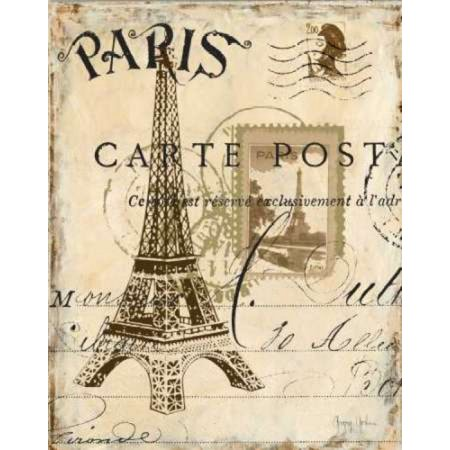 Paris Collage I Poster Print by Gregory Gorham