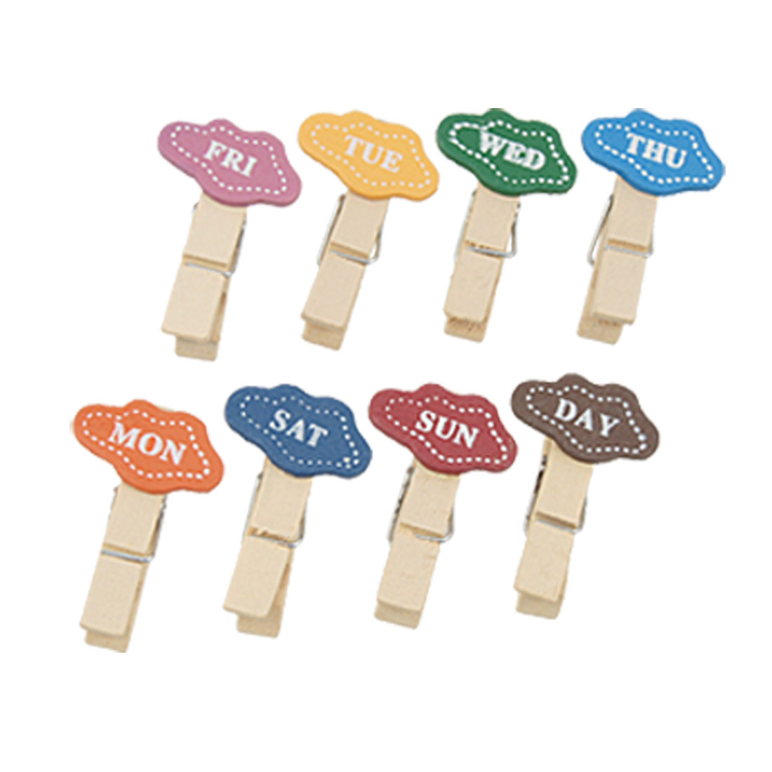 8 Pcs Household Wooden Nonslip Multipurpose Clothing Clothespins Clips