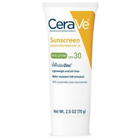 CeraVe Face Sunscreen Lotion with Broad Spectrum, SPF 30, 2.5 oz.