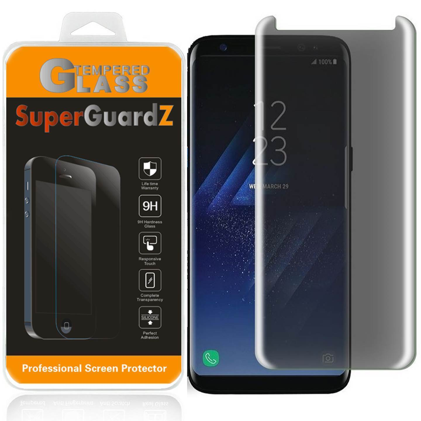For Samsung Galaxy Note 8 / Note8 - SuperGuardZ Privacy Anti-Spy Tempered Glass Screen Protector, 9H, Anti-Scratch, Anti-Bubble, Anti-Fingerprint