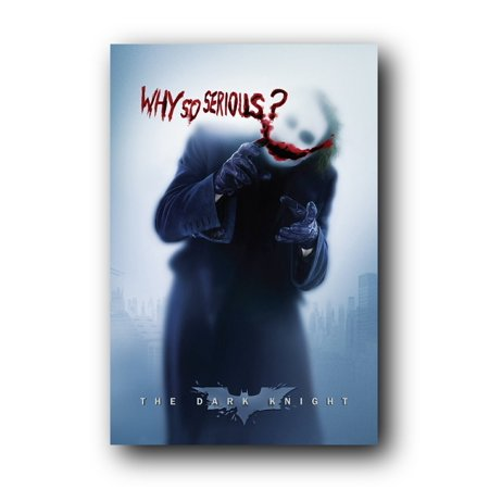 Batman: the Dark Knight Movie: Joker (Heath Ledger) 'Why So Serious' Wall Poster (Rolled) 24