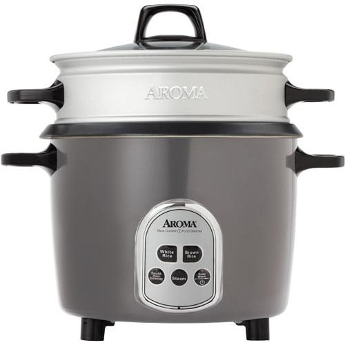 Aroma 14 Cup Digital Rice Cooker And Food Steamer Walmartcom