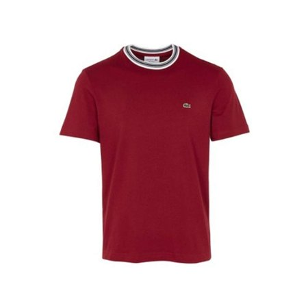 Lacoste Men Cotton Semi Fancy Crew Neck Regular Jersey T-Shirt