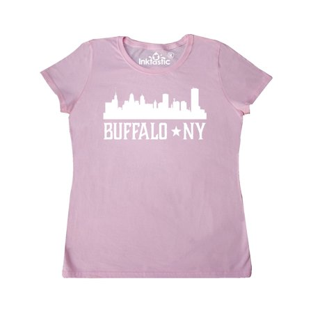 Buffalo New York NY Cities Skyline Women's T-Shirt