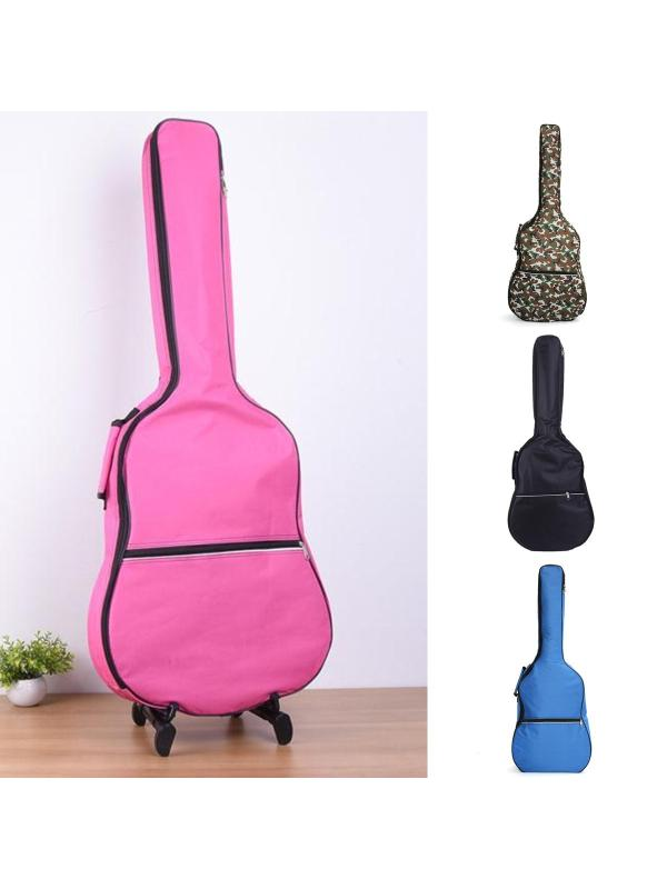 Meigar 41'' Waterproof Acoustic Guitar Bass Bag Gig Double Straps Padded Backpack Case