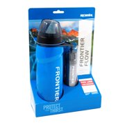 Aquamira Frontier Flow Red Line Water Bottle and Replaceable Filter