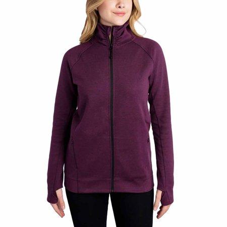 - Kirkland Signature Womens Active Full Zip Jacket (Purple, Small)