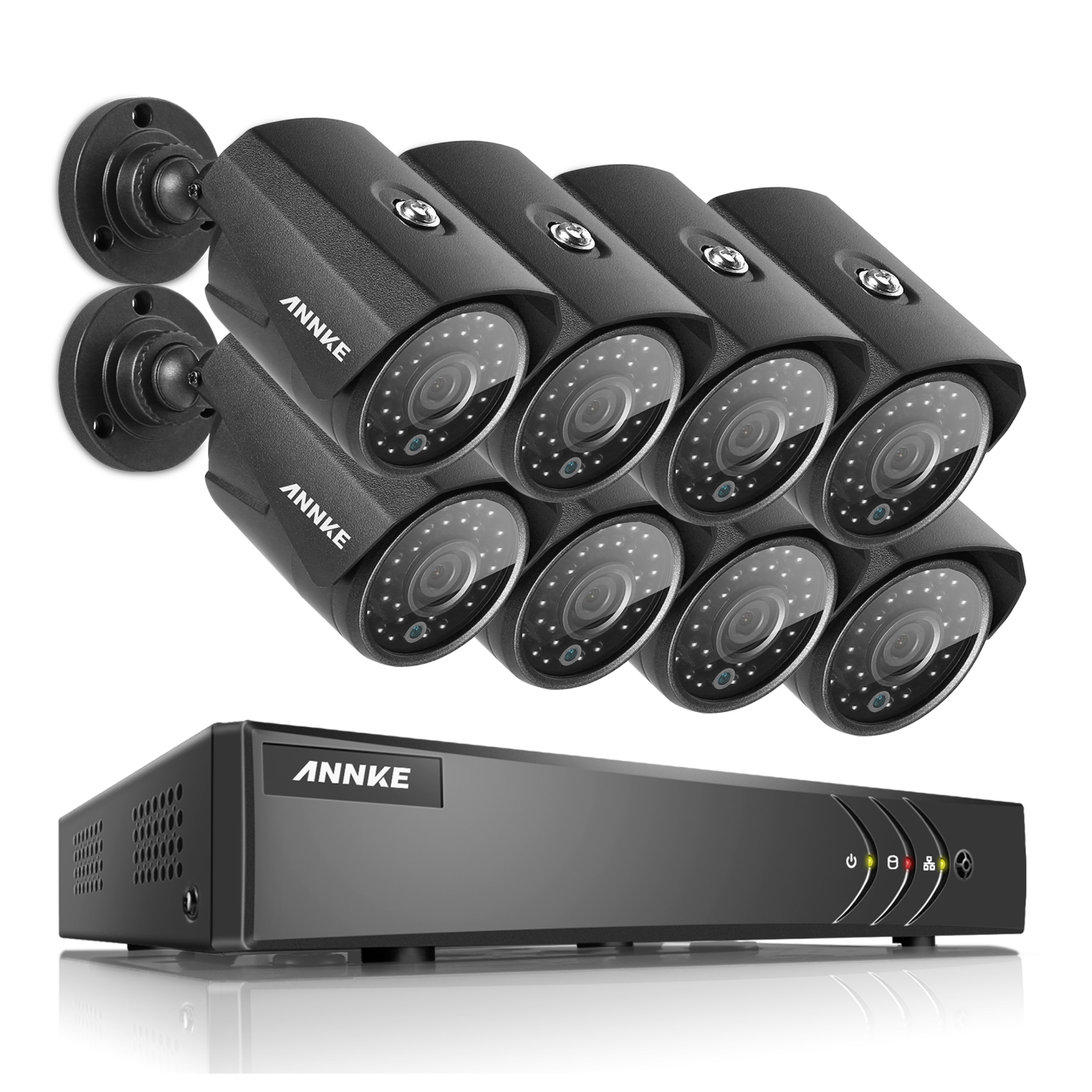 ANNKE 8CH HD 1080N TVI Video Security System DVR with 8Pcs 960P Weatherproof Cameras Night Vision-NO HDD