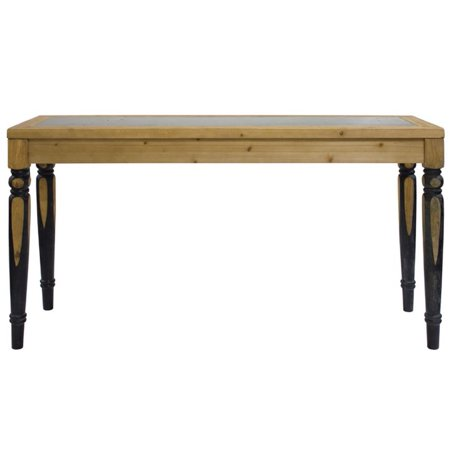 """59""""L X 32.5""""H Decorative Wooden Brown and Black MDF Rectangle Dining Table ()"""