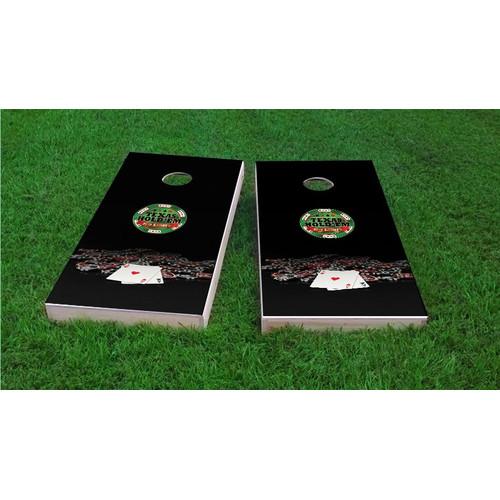 Custom Cornhole Boards Texas Hold'em No Limit Cornhole Game Set by Custom Cornhole Boards